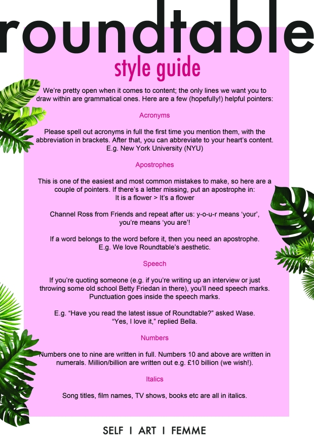 style guide pdf